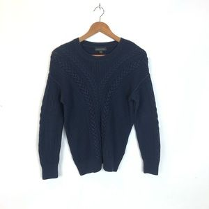 Banana Republic Braided Cable Knit Blue Sweater S